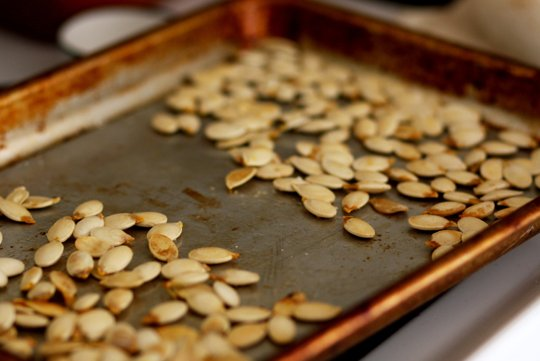 Golden Roasted Pumpkin Seeds