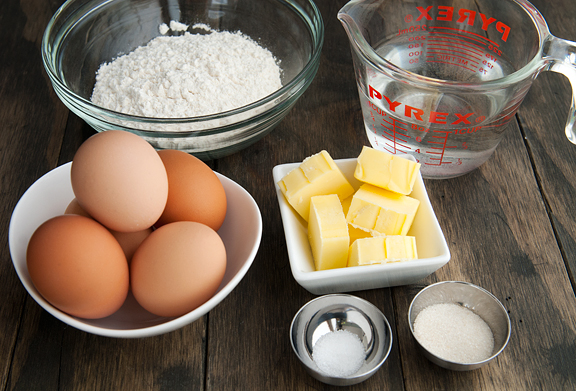 Use fresh eggs, butter, flour, sugar, baking powder, etc.