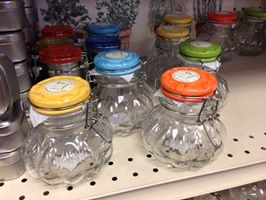 Small decorative jars for herbs and making gifts.