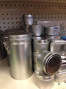 Small tins can be used for dried herbs and gifts.
